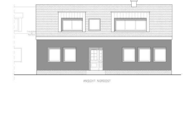 1-Familien-Wohnhaus in Münster-Aaseestadt Ansicht NO