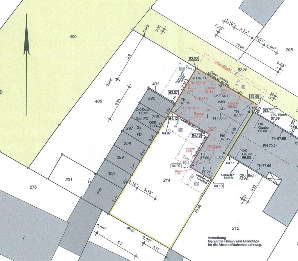 Lageplan 1-Familien-Wohnhaus in Münster-Aaseestadt