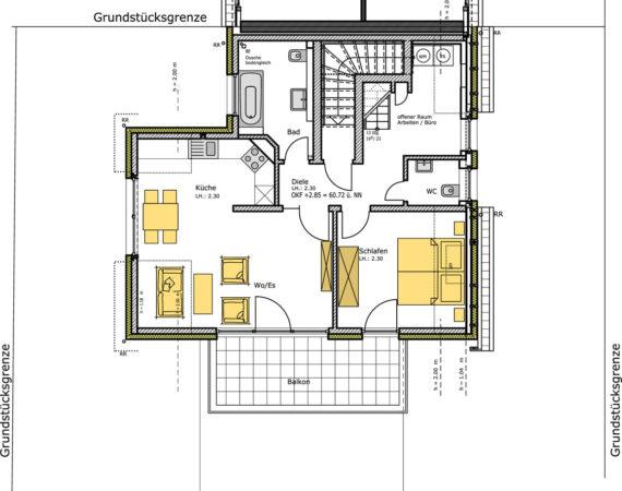 Doppelhaushälfte Kinderhaus Grundriss DG