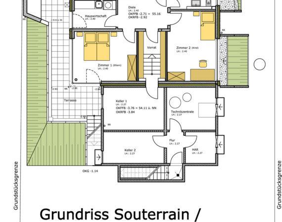 Doppelhaushälfte Kinderhaus Grundriss KG