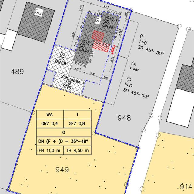 Umbau und Modernisierung eines Wohnhauses in Drensteinfurt Lageplan
